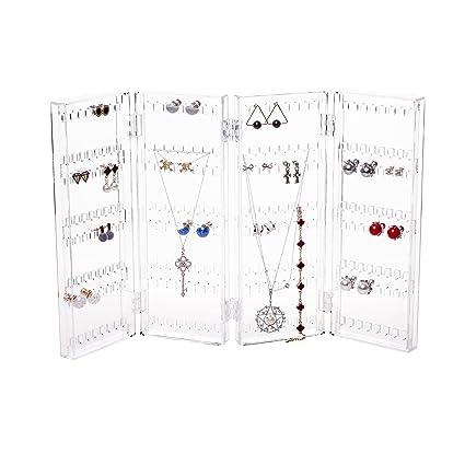 Amazoncom Foldable 4Panel Jewelry Screen Hanger Organizer