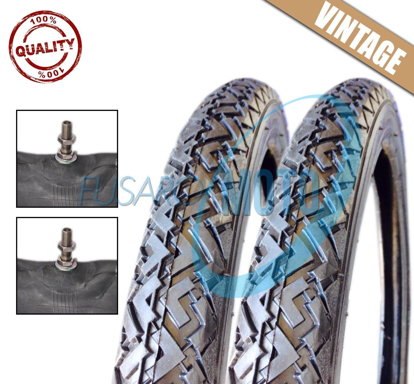 2 Tyres Wheels Tyres Erasers 2 –  17 + 2 Air Chambers Moto Piaggio Ciao FUSARORICAMBI
