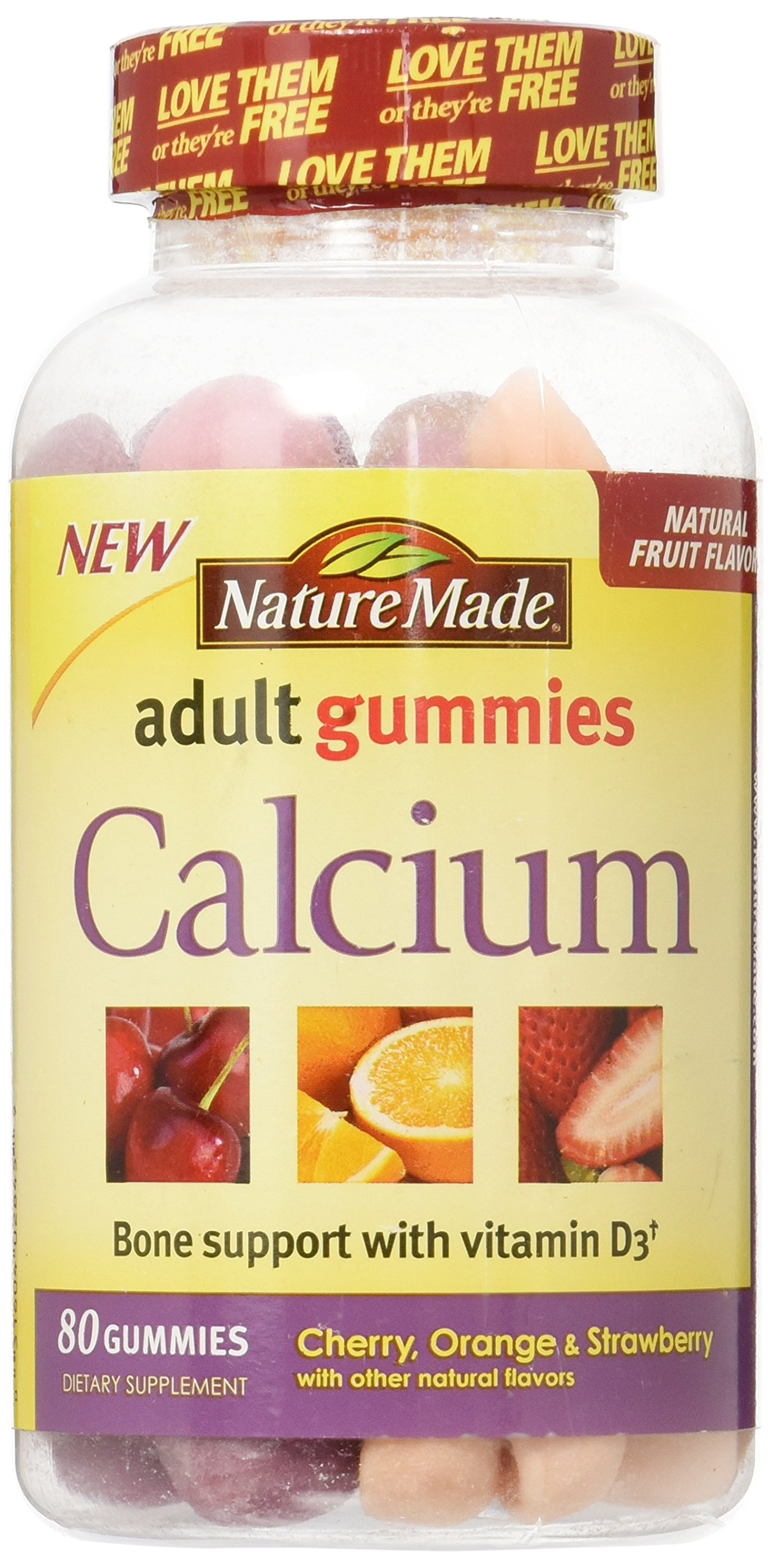 Nature Made Calcium Adult Gummies, 80 Count (Pack of 2)