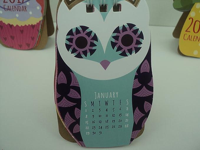 2018 Kawaii Cartoon Animal Desktop Flip Calendar Week To View Stand Up Office LC