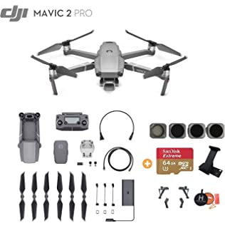 Amazon com : DJI Mavic 2 PRO Drone Quadcopter, with ND, Cpl Lens