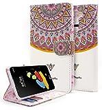 LG Stylo 2 Case, LG Stylo 2 V Case, NageBee [Kickstand Feature] Premium PU Leather Flip Fold Wallet Case with [ID&Credit Card Slot] for LG G Stylo 2 / LG Stylo 2 V(Verizon) - Royal Totem