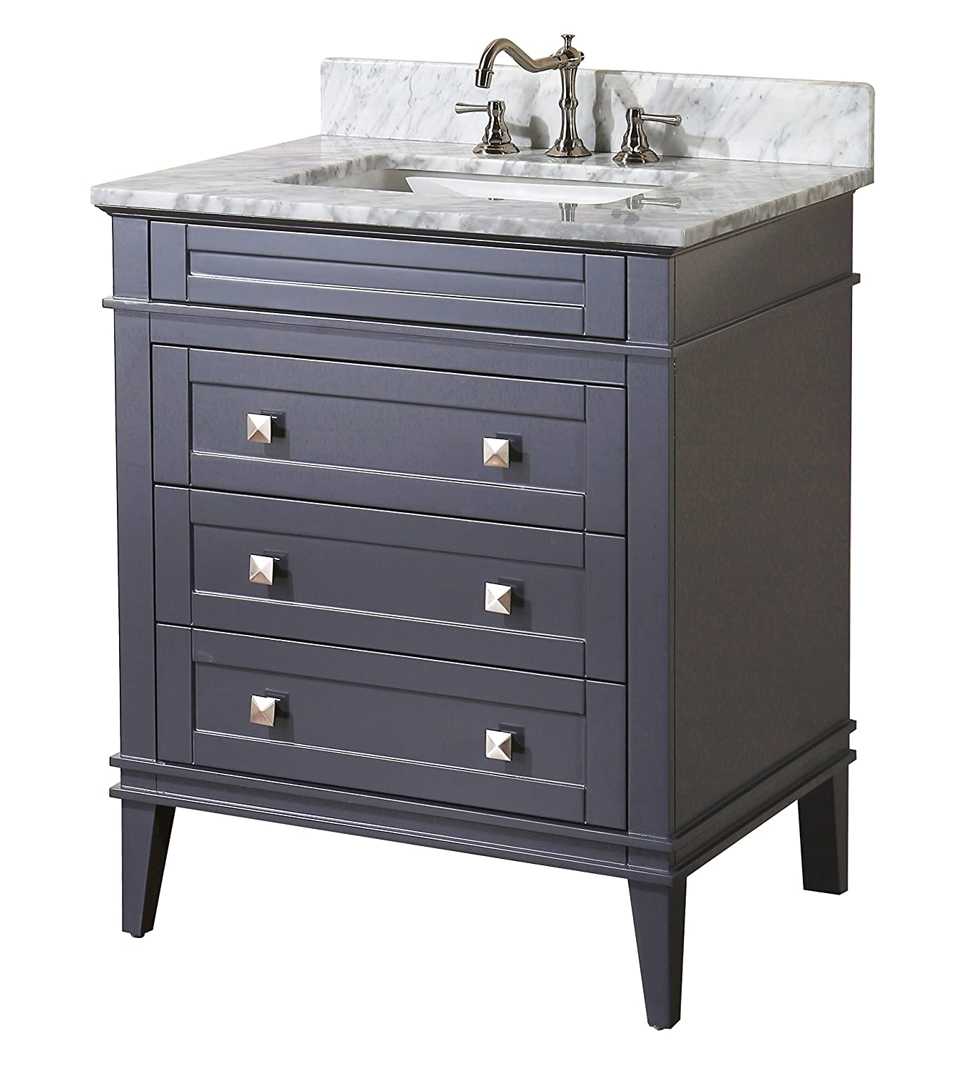 Kitchen Bath Collection KBC L30GYCARR Eleanor Bathroom Vanity with