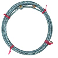 AJ Tack Western Kid Rodeo 20' Twisted Lariat Rope with Burner Blue Made in USA