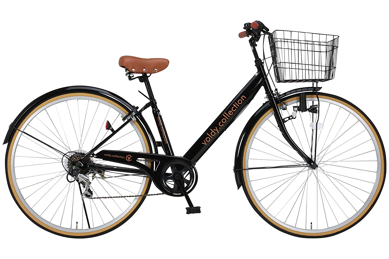 Voldy 完成自転車 27インチ LEDライト CTV-276-B シマノ製6段変速 男性 女性兼用 適正身長155cm以上 ブラック B01MG5IQGQ