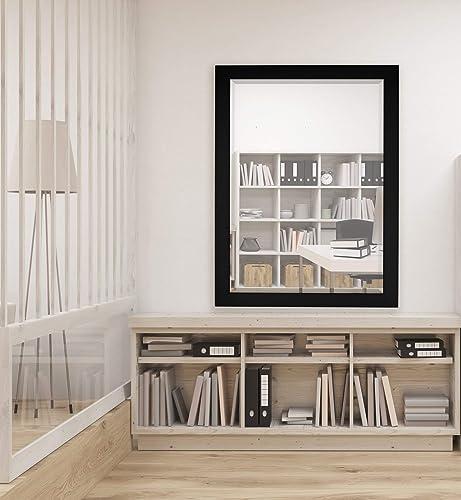 Hitchcock-Butterfield Home Decor 25 x 35 Matte Black Framed Wall Mirror