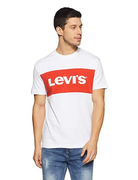 0254a110ef Levi s Men s Printed Regular Fit T-Shirt (58839-0002 White L)  Amazon.in   Clothing   Accessories