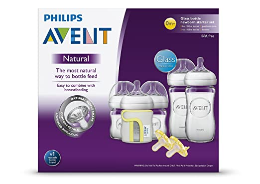 Philips Avent Natural Glass Baby Bottle Gift Set 3