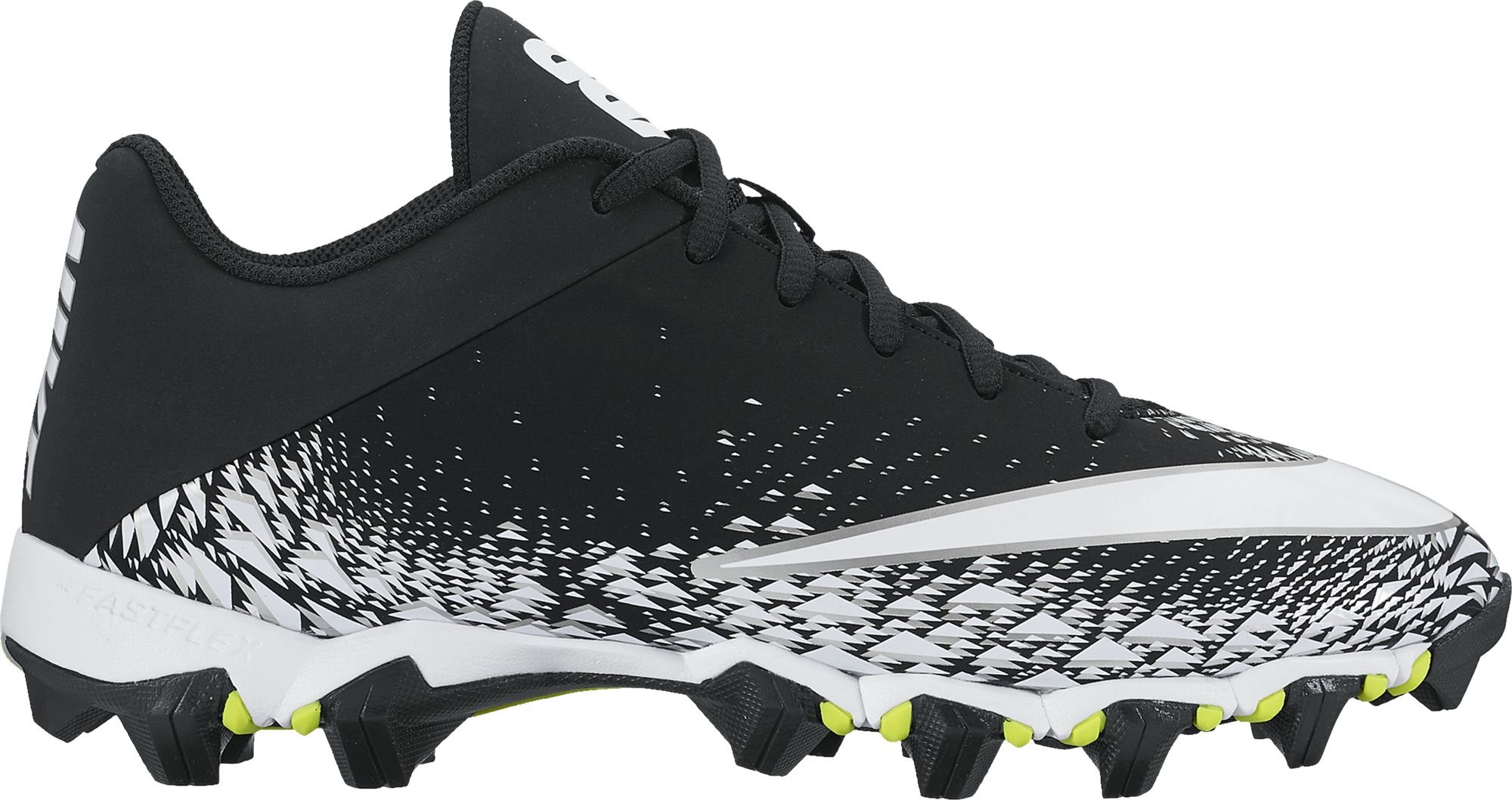 NIKE Men's Vapor Shark 2 Football Cleat Black/White/Metallic Silver Size 9 M US