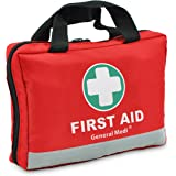 First Aid Kit -309 Pieces- Reflective Bag Design - Including Eyewash, Bandages, Moleskin Pad and Emergency Blanket for…