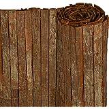 Canisse en ecorce - haie - brise-vue - brande - pour jardin, terrasse, balcon - 100x300 cm - protection contre les regards, vent et soleil