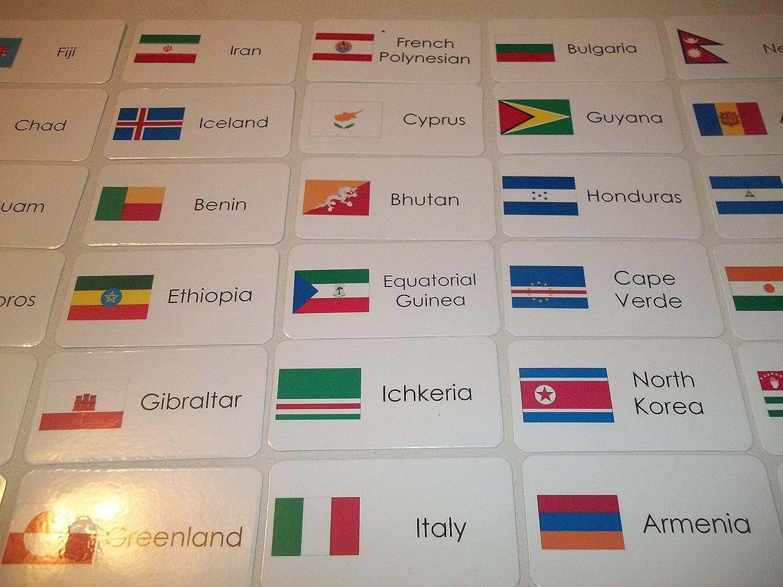245 Laminated World Flags Flashcards. 81XMPINeiwL