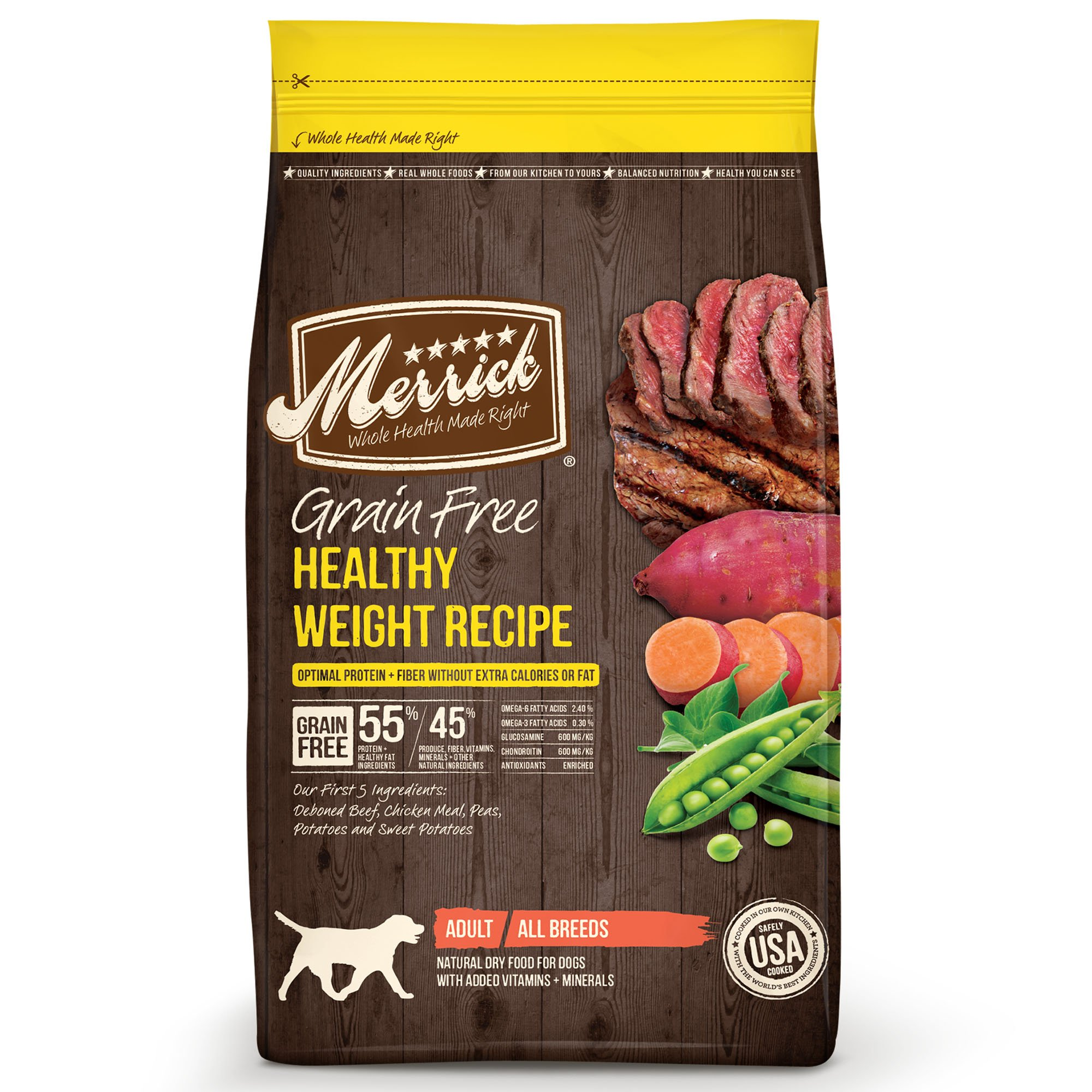 Merrick Grain Free Healthy Weight Recipe Dry Dog Food, 25 lbs.