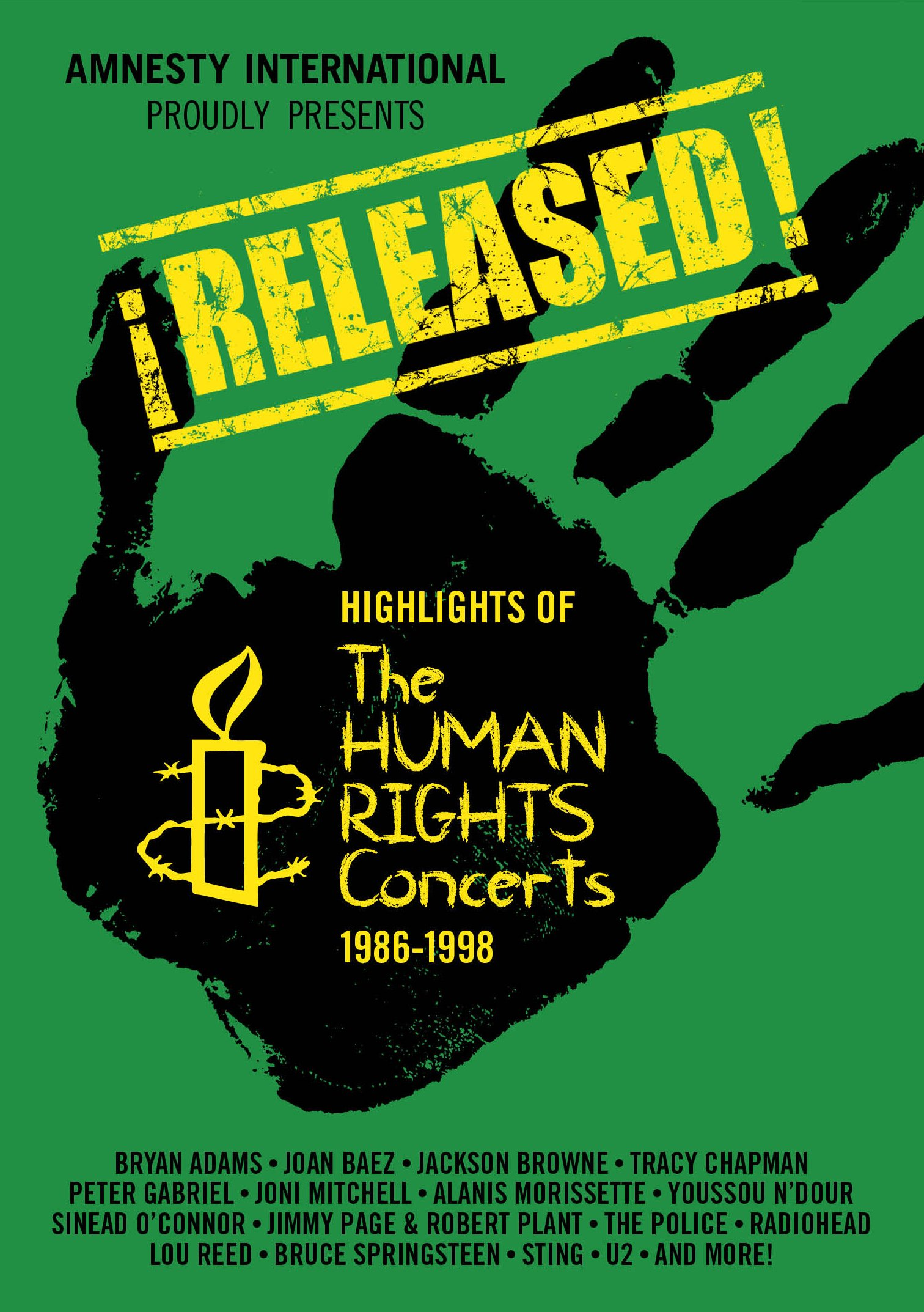 DVD : Various - Released: Highlights Of The Human Rights Concerts (DVD)