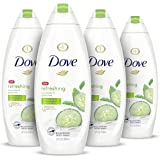 Dove Refreshing Body Wash Revitalizes and Refreshes Skin Cucumber and Green Tea Effectively Washes Away Bacteria While…
