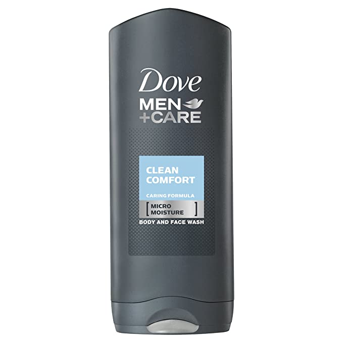 Dove Men + Care Body & Face Wash - Clean Comfort (400ml) Body Wash Gels at amazon