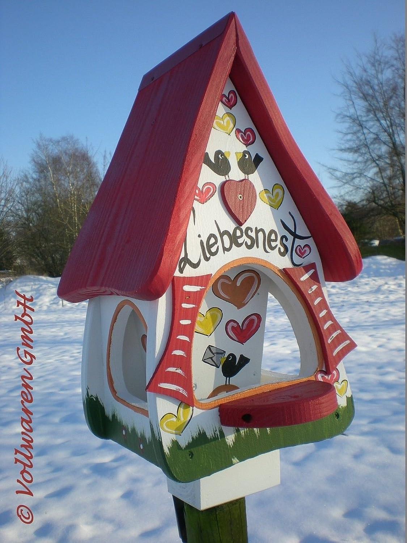ORIGINAL die VOGELVILLA Futtervilla LIEBESNEST BRIEF + Futterspeicher Vogelhaus