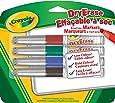 Crayola 4 Dry Erase Markers, Broad Line
