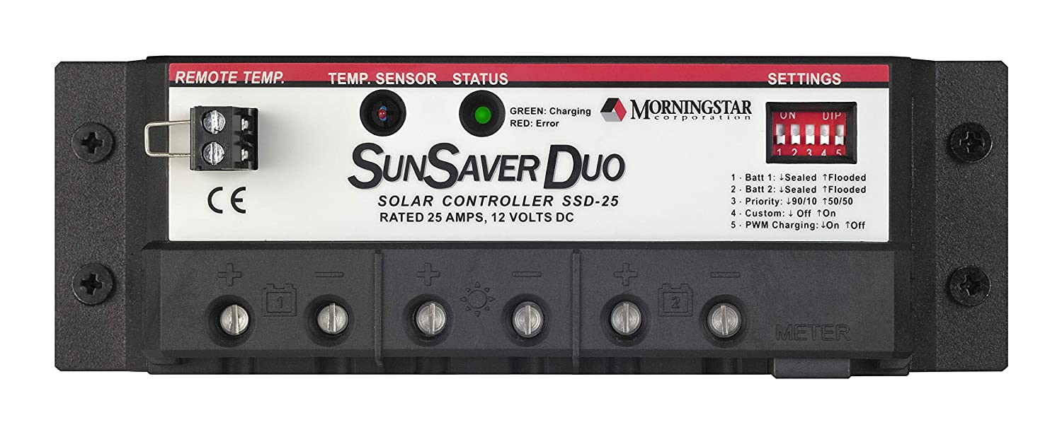 Morningstar SunSaver Duo Charge Controller | World Leading Solar Controllers & Inverters: Home Improvement