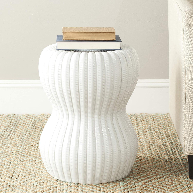 Safavieh Hour Glass Ceramic Decorative Garden Stool, White