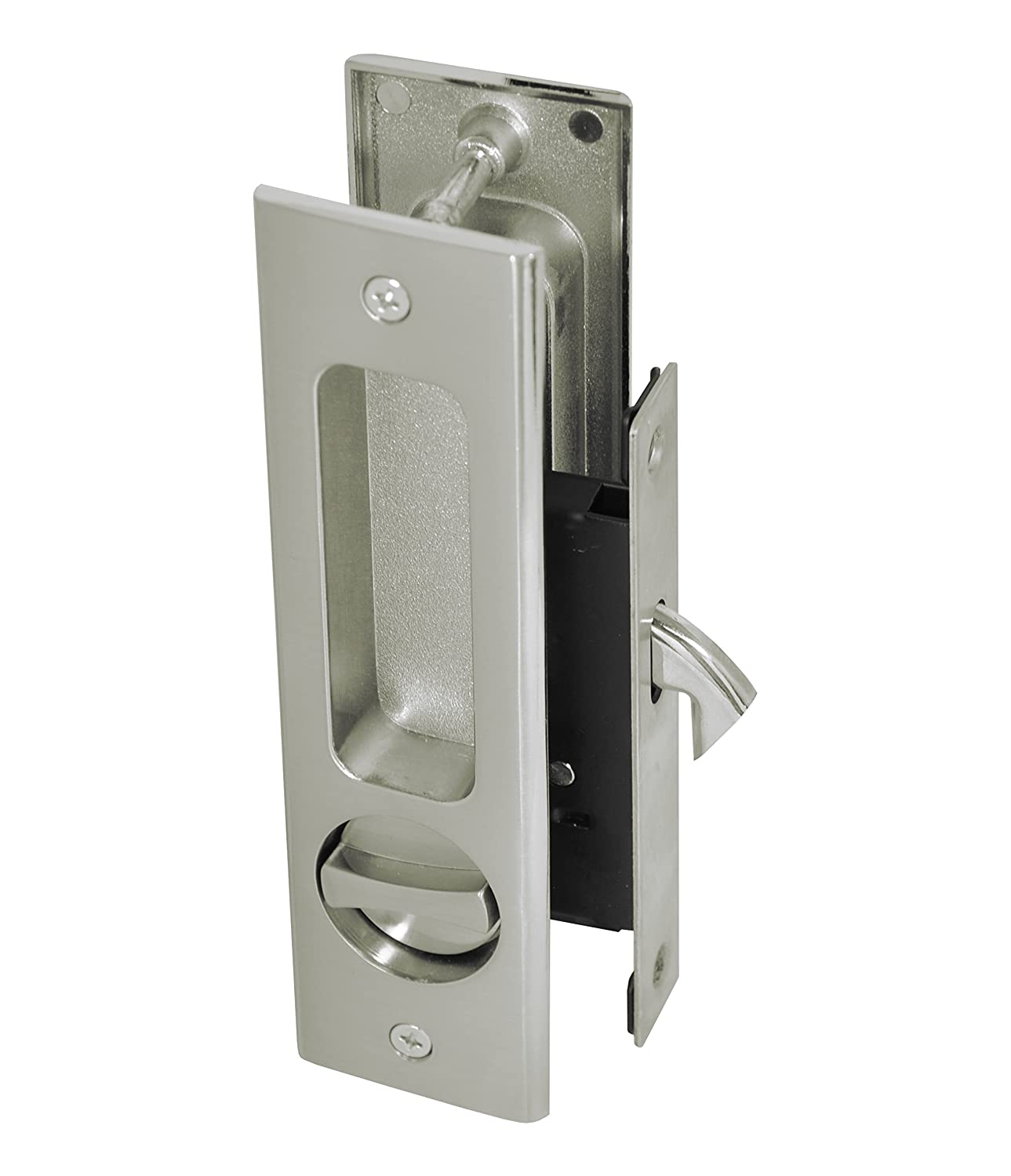 Supreme Bathroom Privacy Sliding Pocket Door Lock Set With Thumb