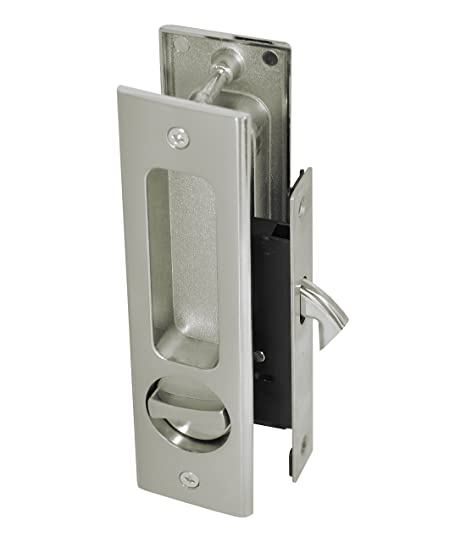 Supreme Bathroom Privacy Slidingpocket Door Lock Set With Thumb