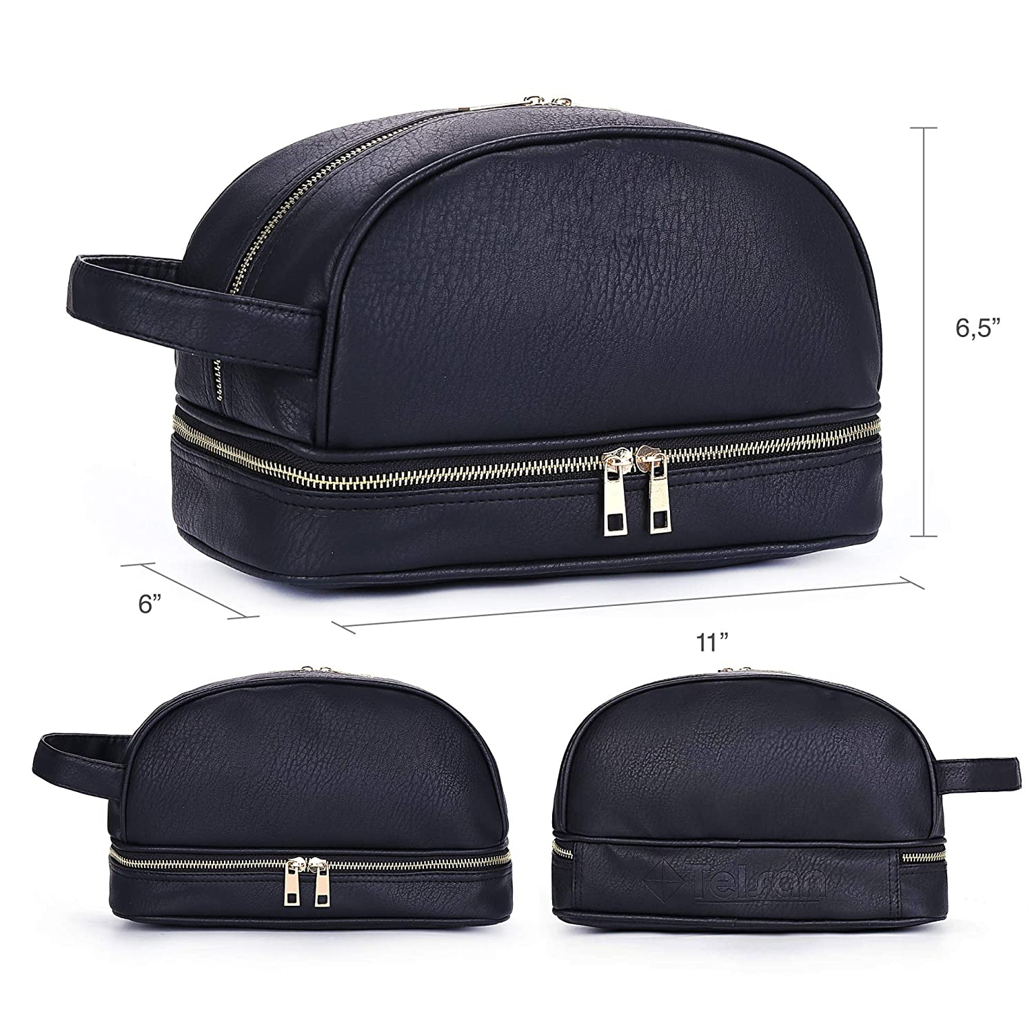 50b71173a826 Amazon.com   Leather Toiletry Bag For Men - Dopp Kit Travel Bags Toiletry  bag for Shaving Toilet Accessories Gifts for travelers men Ideal as Mens ...