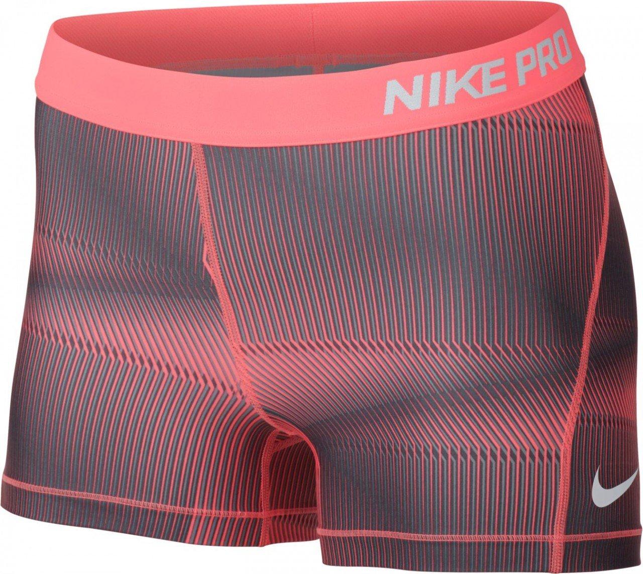 Nike Women's Pro Cool 3'' Pyramid Short (X-Large, Lava Glow///White)