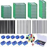 AUSTOR 100 Pcs PCB Board Kit Including 30 Pcs PCB Boards 30 Pcs 40 Pin 2.54mm Header Connector(Bonus: 10 Pcs 2P&3P…