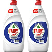 Fairy Plus Antibacterial Dishwashing Liquid Soap With Alternative Power To Bleach, 2 x 600 ml '