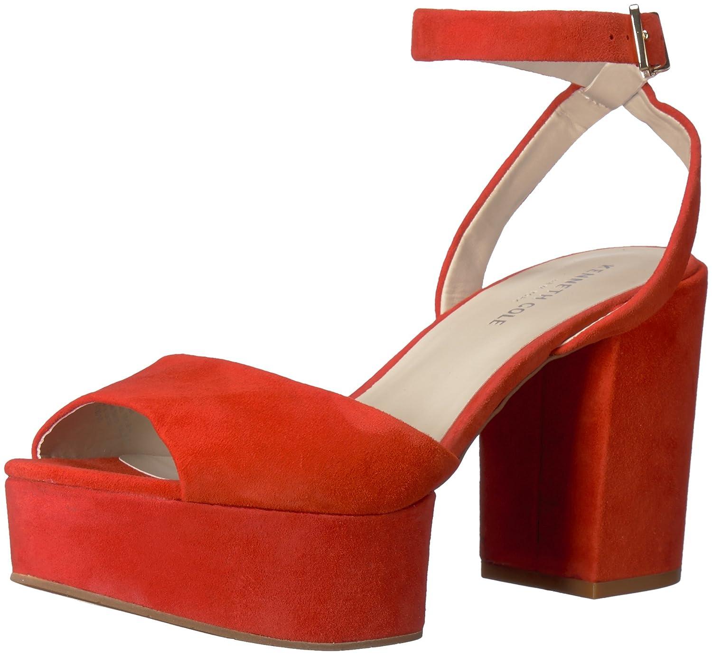 Kenneth Cole New York Women's Pheonix Platform Dress Heeled Sandal B077QSZFWS 7 B(M) US|Persimmon