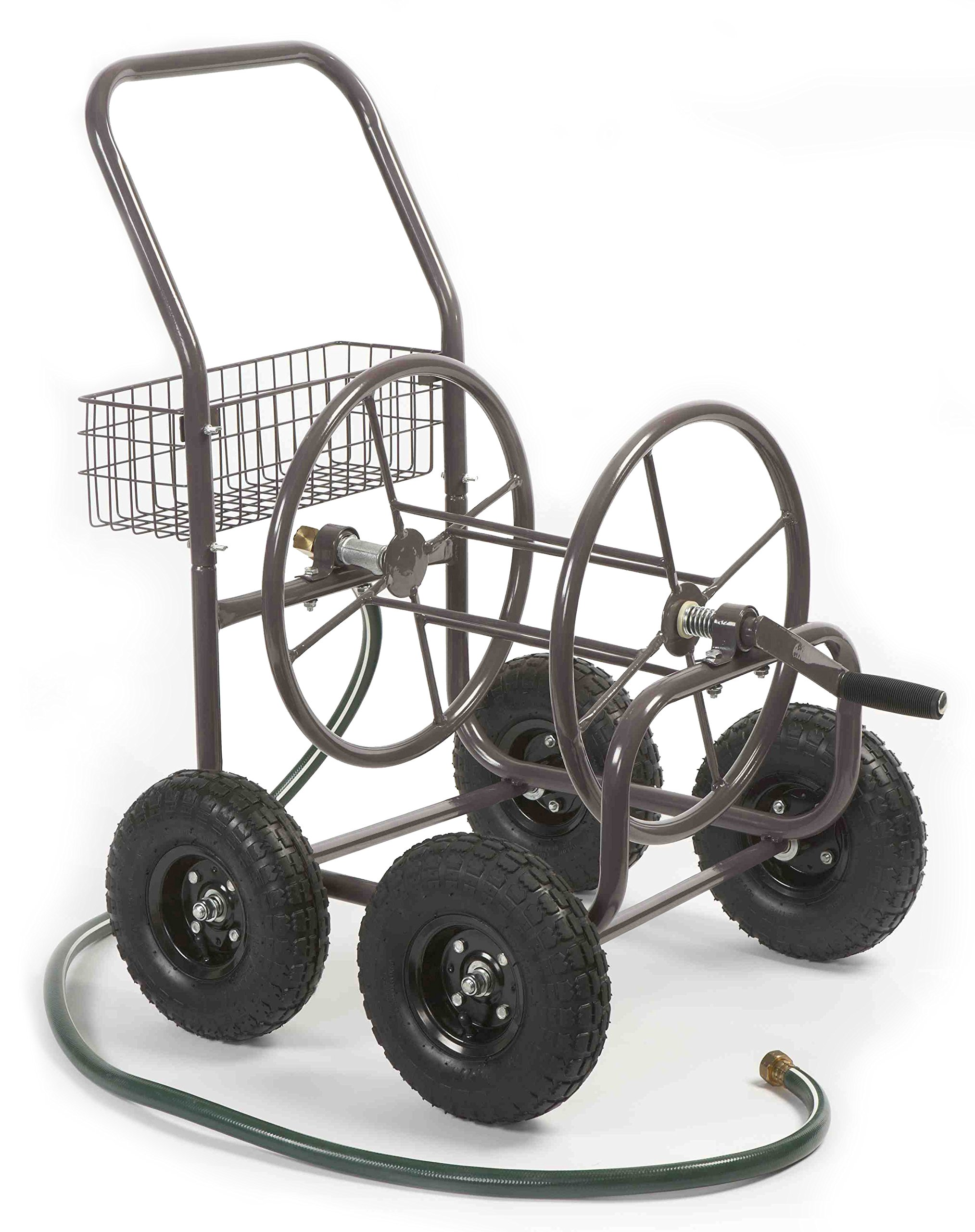 Liberty Garden Residential Grade 4 Wheel 871-M1-1 Garden Hose Reel Cart, Bronze by Liberty Garden Products