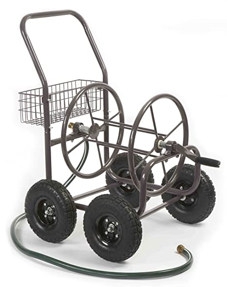 Libertad Garden Products 871 – 1 residencial grado 4 ruedas carrito de carrete de manguera de