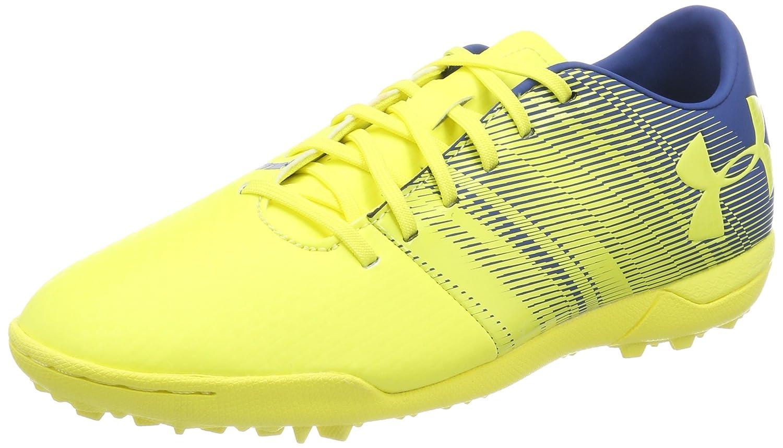 Under Armour Men's Spotlight Turf Soccer Shoe, White/White B074ZC4JJP 7.5 M US|Tokyo Lemon (300)/Teal Punch