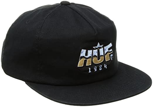 HUF Mens Parliament Snapback, Black One Size
