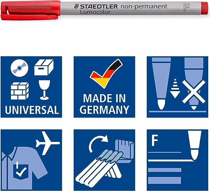 Staedtler 316 WP4 Bolígrafo F non-permanente: Amazon.es: Oficina y papelería