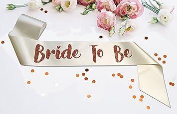 Premium I Do Crew Satin Married Engagement Party Sash Hen Do Rose Gold White