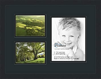 Amazoncom Arttoframes Collage Photo Frame Double Mat With 1