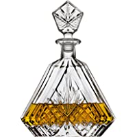 Whiskey Decanter for Liquor Scotch Bourbon or Wine, Irish cut Triangular - 750ml