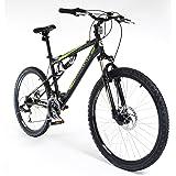 "Muddyfox 26"" Livewire Full Suspension Bike - Mens - Black and Green"