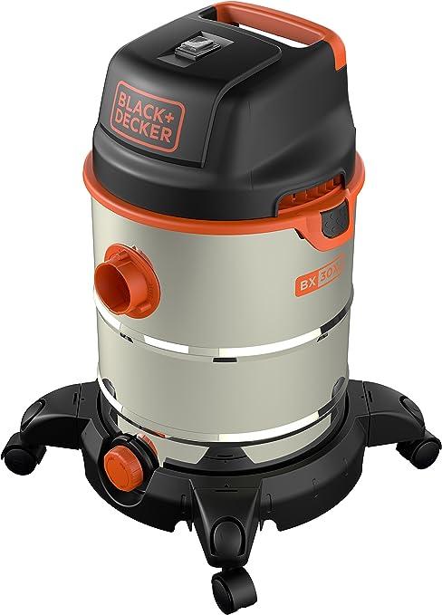 Black Decker 51688 Aspiradora, 1600 W, inox, con depósito 30 litros: Amazon.es: Bricolaje y herramientas
