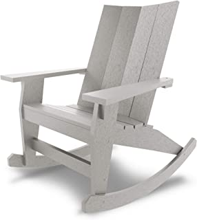 product image for Hatteras Hammocks Gray Adirondack Rocker, Eco-Friendly Durawood, All Weather Resistance, Fit 'N' Finish Handcrafted in The USA