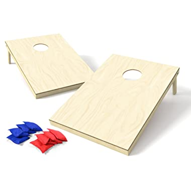 Backyard Champs 2' x 3' Wood Cornhole Set (8 Regulation Bags Included)