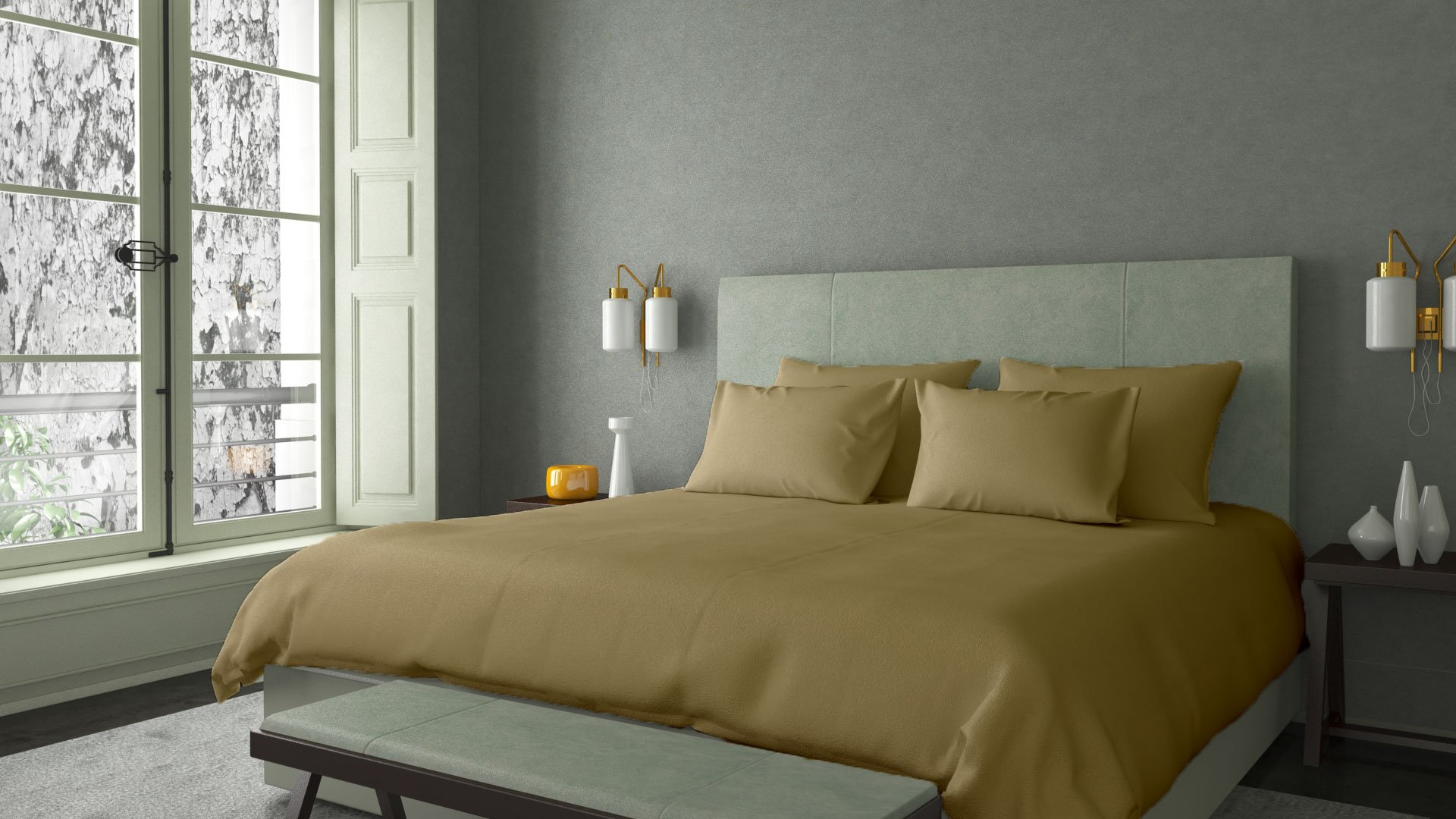 100% RISK FREE PURCHASE with LUJONEST Genuine SPA LIKE FEEL EGYPTIAN Cotton STAIN FREE Italian Finish Made in India Sheet Set 600TC Fits Upto 21 Inches Deep Pocket Solid (Full, Taupe)