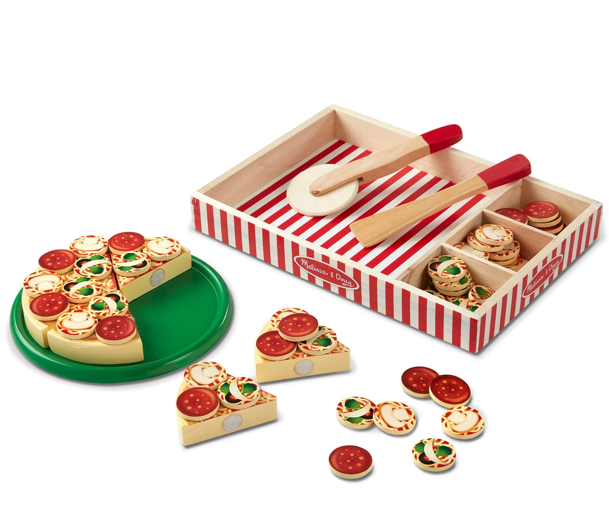 Melissa & Doug Pizza Party Play set - 63 Pieces, H: 13.5 x W: 10.5 x D: 1.6