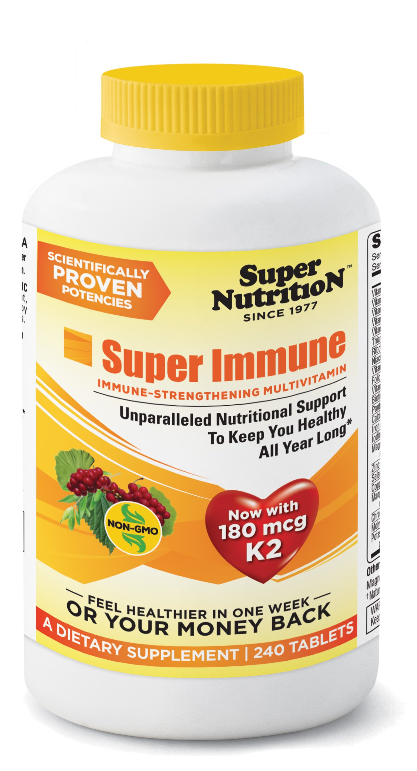 SuperNutrition Super Immune Multivitamin, 240 Count