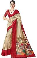 Miraan Women's Linen Saree With Blouse Piece