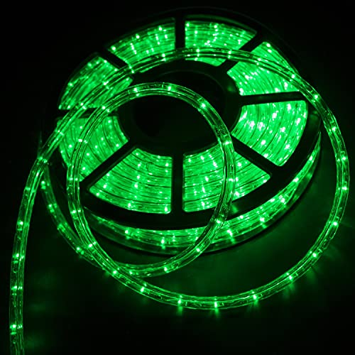 Silverylake Christmas Decorative Party Lighting Led Rope Light Home Indoor Outdoor 15M 50FT Green