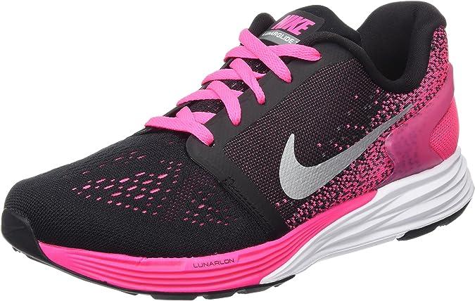 Nike Bambina Lunarglide 7 (GS) Scarpe Running, Il Nero