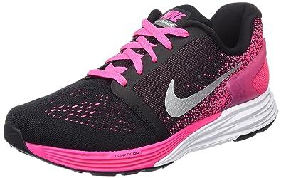 low priced 3d514 c2401 Nike Girls  Lunarglide 7 (Gs) Training Running Shoes, (Black),
